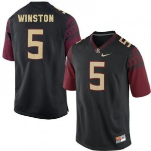 Nike Jameis Winston FSU No.5 - Black Football Jersey