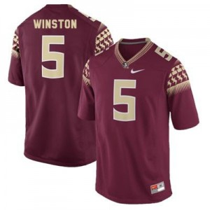 Nike Jameis Winston FSU No.5 - Garnet Red Football Jersey