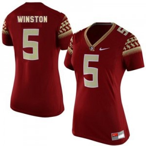 Nike Jameis Winston Florida State No.5 Women - Garnet Red Football Jersey