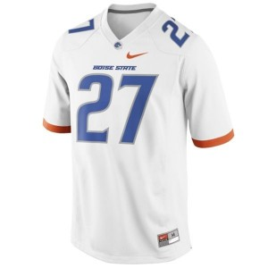 Nike Jay Ajayi Boise State Broncos No.27 - White Football Jersey