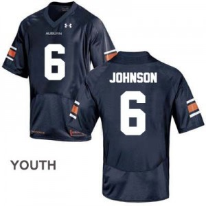 Under Armour Jeremy Johnson Auburn Tigers No.6 College - Blue - Youth Football Jersey
