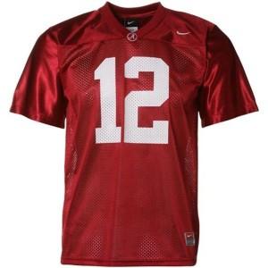 Nike Joe Namath Alabama Crimson Tide No.12 Mesh - Crimson Red Football Jersey