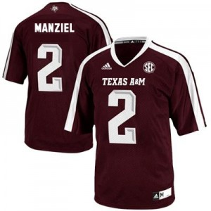 Adidas Johnny Manziel Texas A&M Aggies No.2 - Maroon Red Football Jersey