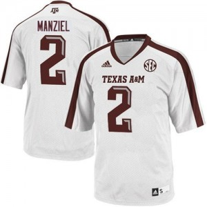 Adidas Johnny Manziel Texas A&M Aggies No.2 Youth - White Football Jersey