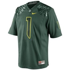 Nike Josh Huff Oregon Ducks No.1 - Green Football Jersey