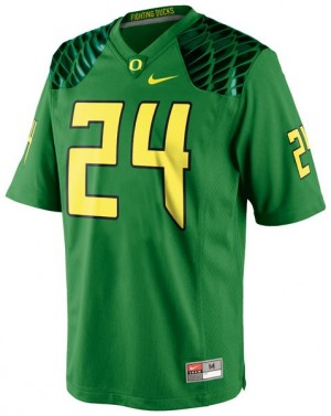 Nike Kenjon Barner Oregon Ducks No.24 - Apple Green Football Jersey