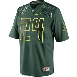 Nike Kenjon Barner Oregon Ducks No.24 - Green Football Jersey