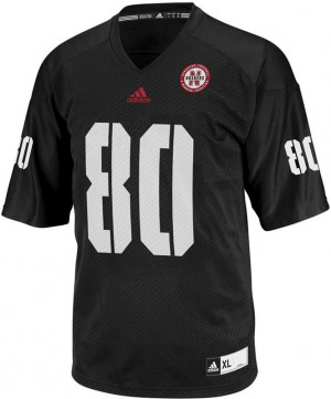 Adida Kenny Bell Nebraska Cornhuskers No.80 Youth - Black Football Jersey