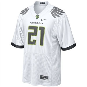 Nike LaMichael James Oregon Ducks No.21 - White Football Jersey