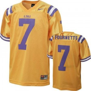 Nike Leonard Fournette LSU Tigers No.7 - Gold Football Jersey