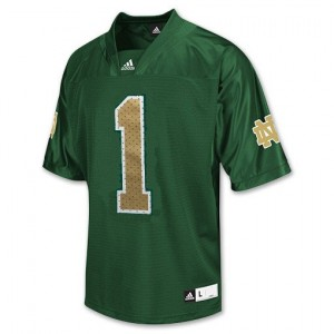 Adida Louis Nix III Notre Dame Fighting Irish No.1 Youth - Green Football Jersey