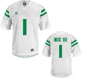 Adida Louis Nix III Notre Dame Fighting Irish No.1 Youth - White Football Jersey