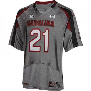 Under Armour Marcus Lattimore South Carolina Gamecocks No.21 - Gray Football Jersey