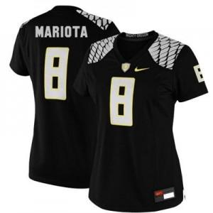Nike Marcus Mariota Oregon Ducks No.8 Women - Black Football Jersey