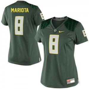 Nike Marcus Mariota Oregon Ducks No.8 Women - Green Football Jersey