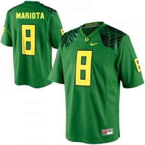 Nike Marcus Mariota Oregon Ducks No.8 Youth - Apple Green Football Jersey
