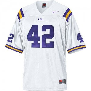 Nike Michael Ford LSU Tigers No.42 Mesh - White Football Jersey