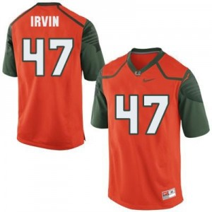 Nike Michael Irvin Miami Hurricanes No.47 - Orange Football Jersey