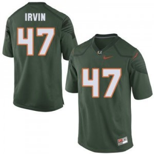 Nike Michael Irvin Miami Hurricanes No.47 Youth - Green Football Jersey