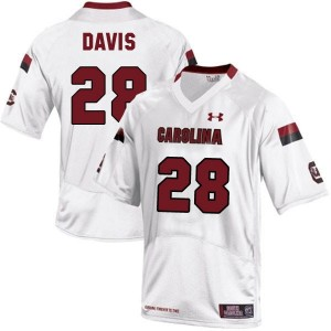 Under Armour Mike Davis South Carolina Gamecocks No.28 - White Football Jersey