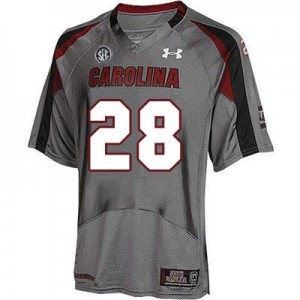 Under Armour Mike Davis South Carolina Gamecocks No.28 Youth - Gray Football Jersey