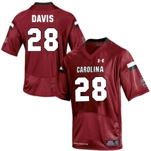 Under Armour Mike Davis South Carolina Gamecocks No.28 Youth - Red Football Jersey