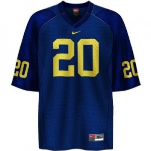 Nike Mike Hart UMich Wolverines No.20 - Navy Blue Football Jersey