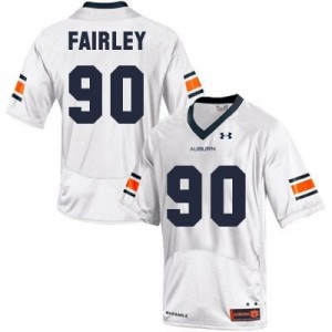 Under Armour Nick Fairley Auburn Tigers No.90 Youth - White Football Jersey