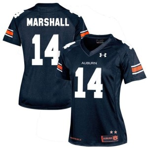 Under Armour Nick Marshall Auburn Tigers No.14 Women - Navy Blue Football Jersey