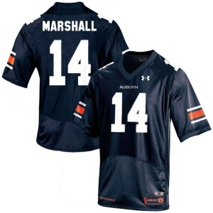 Under Armour Nick Marshall Auburn Tigers No.14 Youth - Navy Blue Football Jersey