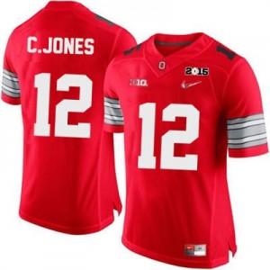 Nike Cardale Jones OSU No.12 Diamond Quest 2015 Patch College - Scarlet Football Jersey