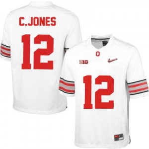 Nike Cardale Jones OSU No.12 Diamond Quest Playoff - White Football Jersey