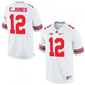 Nike Cardale Jones Ohio State Buckeyes No.12 - White Football Jersey