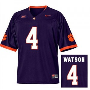 Nike Deshaun Watson Clemson No.4 Alternate - Purple Football Jersey