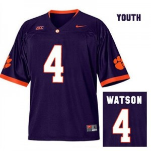 Nike Deshaun Watson Clemson No.4 Alternate - Purple - Youth Football Jersey