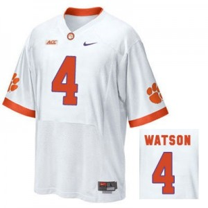 Nike Deshaun Watson Clemson No.4 Road - White Football Jersey