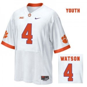 Nike Deshaun Watson Clemson No.4 Road - White - Youth Football Jersey