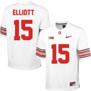 Nike Ezekiel Elliott OSU No.15 Diamond Quest Playoff - White Football Jersey