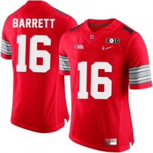 Nike J.T. Barrett OSU No.16 Diamond Quest 2015 Patch College - Scarlet Football Jersey