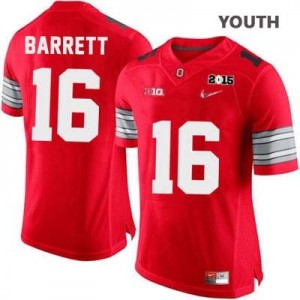 Nike J.T. Barrett OSU No.16 Diamond Quest 2015 Patch College - Scarlet - Youth Football Jersey