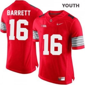 Nike J.T. Barrett OSU No.16 Diamond Quest Playoff - Scarlet Red - Youth Football Jersey