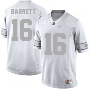 Nike J.T. Barrett Ohio State Buckeyes No.16 - Platinum Football Jersey