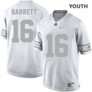 Nike J.T. Barrett Ohio State Buckeyes No.16 - Platinum - Youth Football Jersey