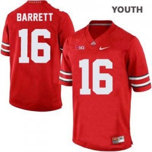Nike J.T. Barrett Ohio State Buckeyes No.16 - Scarlet - Youth Football Jersey