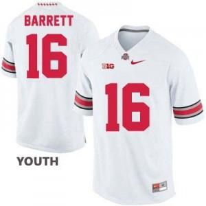 Nike J.T. Barrett Ohio State Buckeyes No.16 - White - Youth Football Jersey
