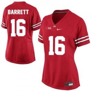 Nike J.T. Barrett Ohio State Buckeyes No.16 Women's - Red Football Jersey