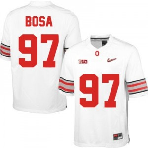 Nike Joey Bosa OSU No.97 Diamond Quest Playoff - White Football Jersey