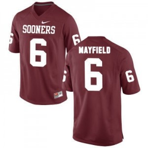 Nike Oklahoma Sooners No.6 Baker Mayfield Red Football Jersey