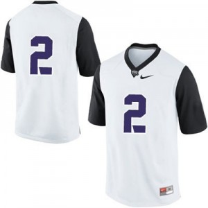 Nike TCU Horned Frogs No.2 College - White Football Jersey