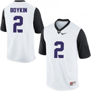 Nike Trevone Boykin TCU Horned Frogs No.2 College - White Football Jersey